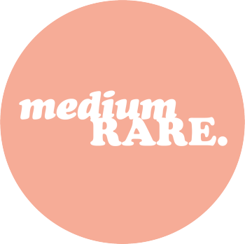mediumrare's tiny desk... Logo