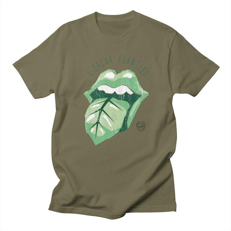 "Tongue ""I speak plantish"" Women's T-Shirt by Mee Schmid Plantlady Shop"