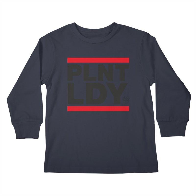 Run PLNT LDY Kids Longsleeve T-Shirt by Mee Schmid Plantlady Shop