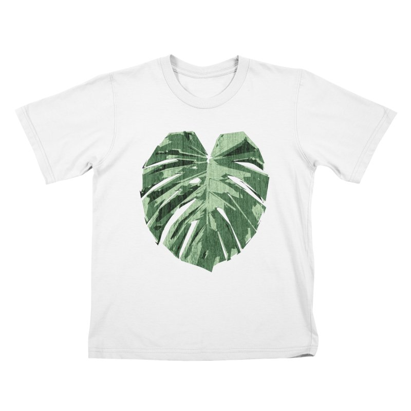 Monstera Love Kids T-Shirt by Mee Schmid Plantlady Shop
