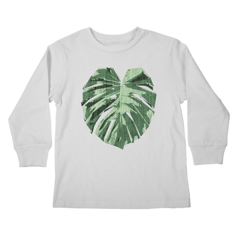 Monstera Love Kids Longsleeve T-Shirt by Mee Schmid Plantlady Shop