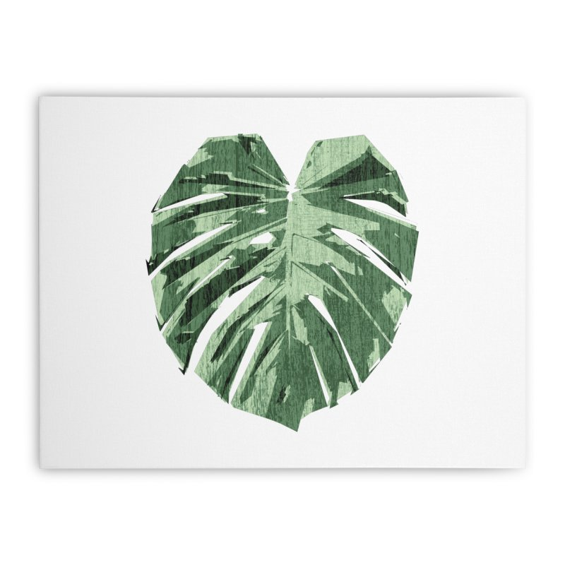 Monstera Love Home Stretched Canvas by Mee Schmid Plantlady Shop