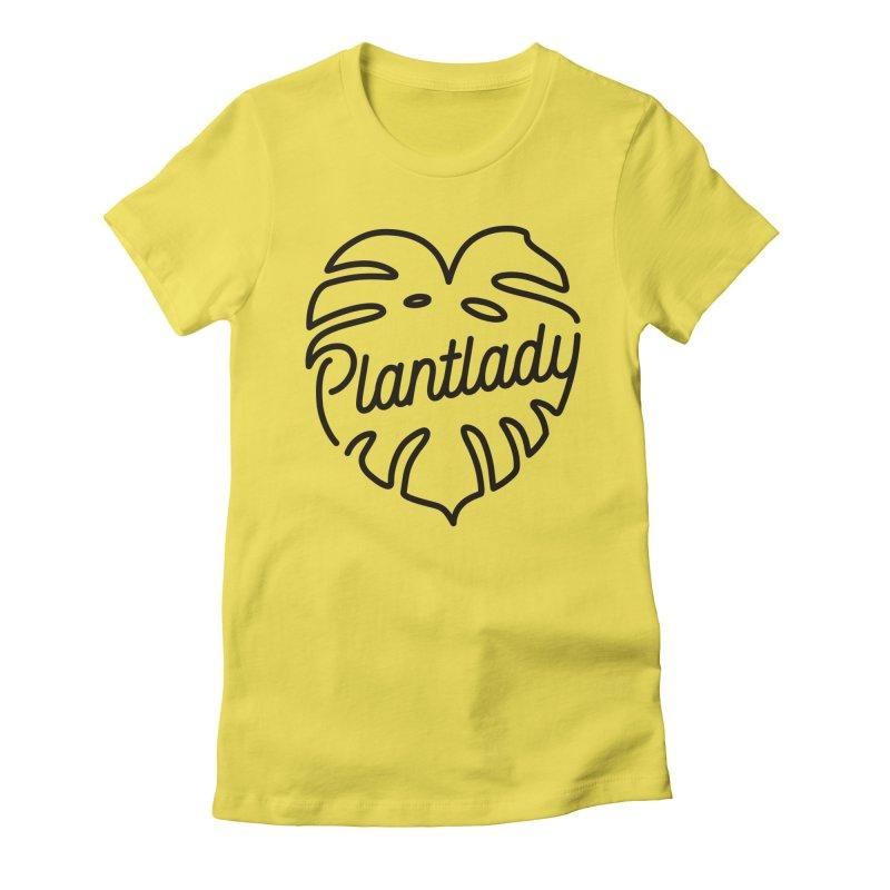 Plantlady Logo Black Women's T-Shirt by Mee Schmid Plantlady Shop
