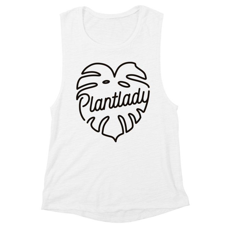 Plantlady Logo Black Women's Tank by Mee Schmid Plantlady Shop