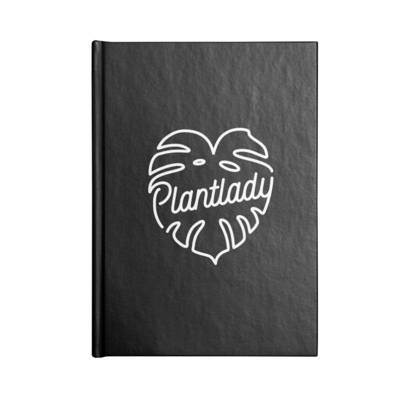 Plantlady Logo White Accessories Notebook by Mee Schmid Plantlady Shop