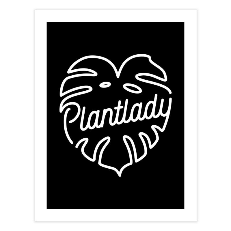 Plantlady Logo White Home Fine Art Print by Mee Schmid Plantlady Shop