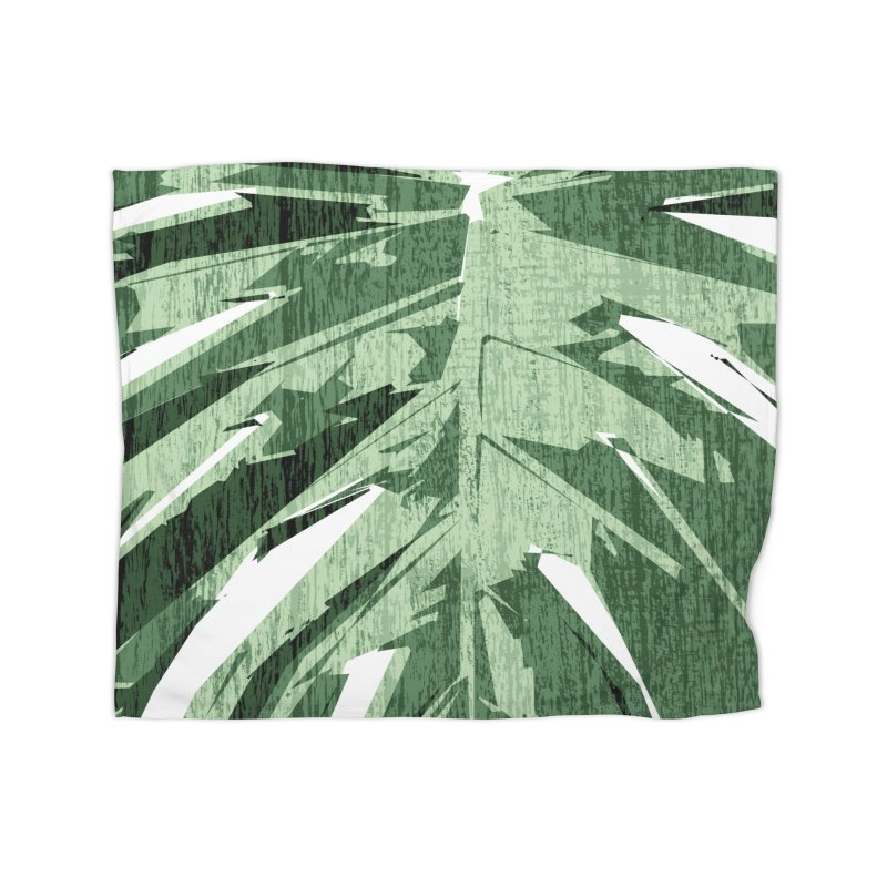 Structure Of Monstera Love Home Blanket by Mee Schmid Plantlady Shop