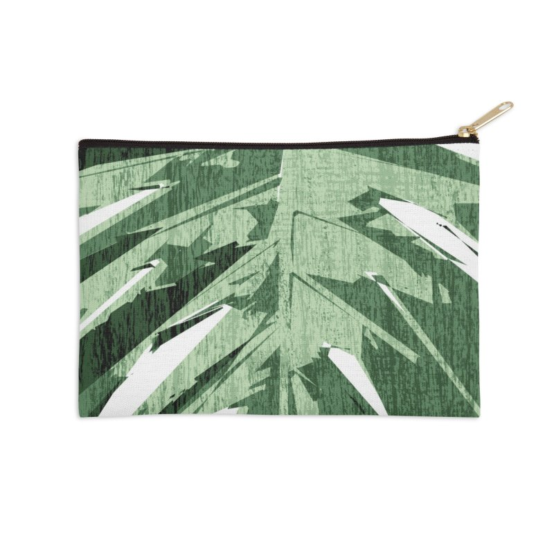 Structure Of Monstera Love Accessories Zip Pouch by Mee Schmid Plantlady Shop