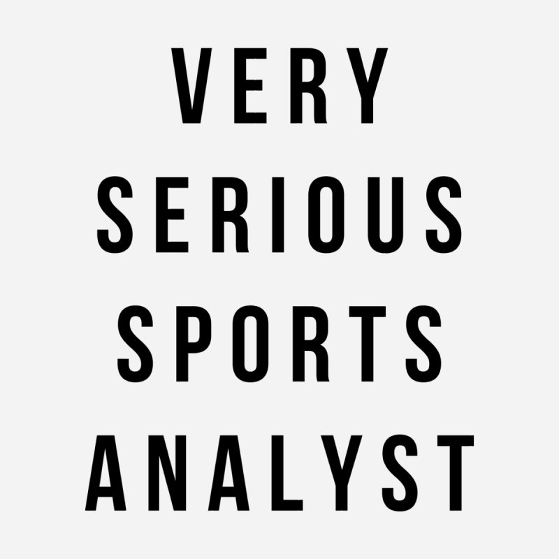 Very Serious Sports Analyst (Black) by Meg & Piper's Hockey Shop