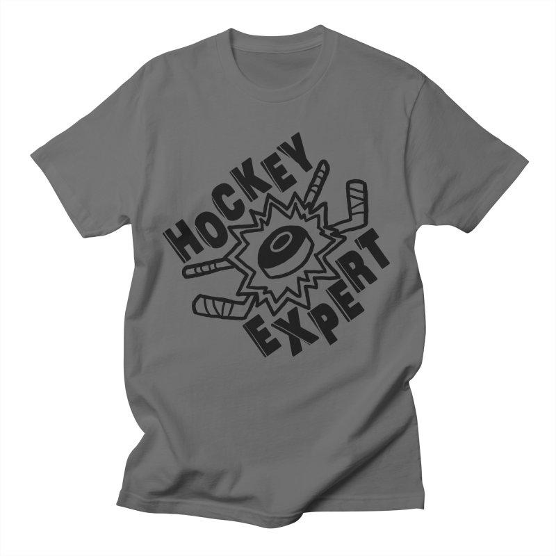 Hockey Expert Men's T-Shirt by Meg & Piper's Hockey Shop