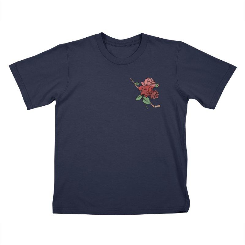 Hockey Floral Kids T-Shirt by Meg & Piper's Hockey Shop
