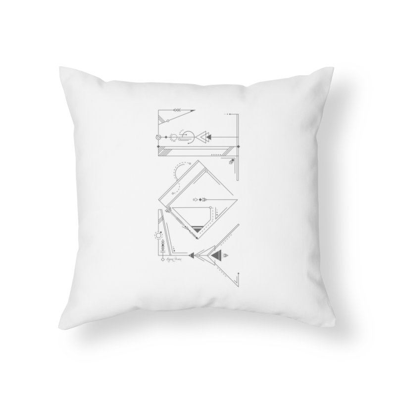 Connected to Joy Home Throw Pillow by megangordondotstudio