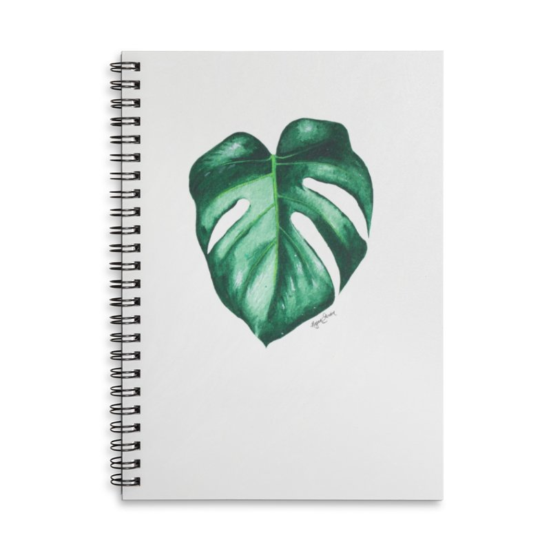 Monstera Leaf Love // She The Roar Collection Accessories Lined Spiral Notebook by megangordondotstudio