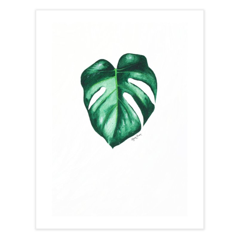 Monstera Leaf Love // She The Roar Collection Home Fine Art Print by megangordondotstudio