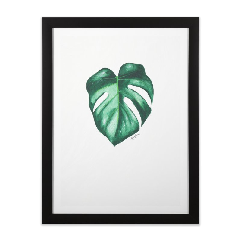 Monstera Leaf Love // She The Roar Collection Home Framed Fine Art Print by megangordondotstudio