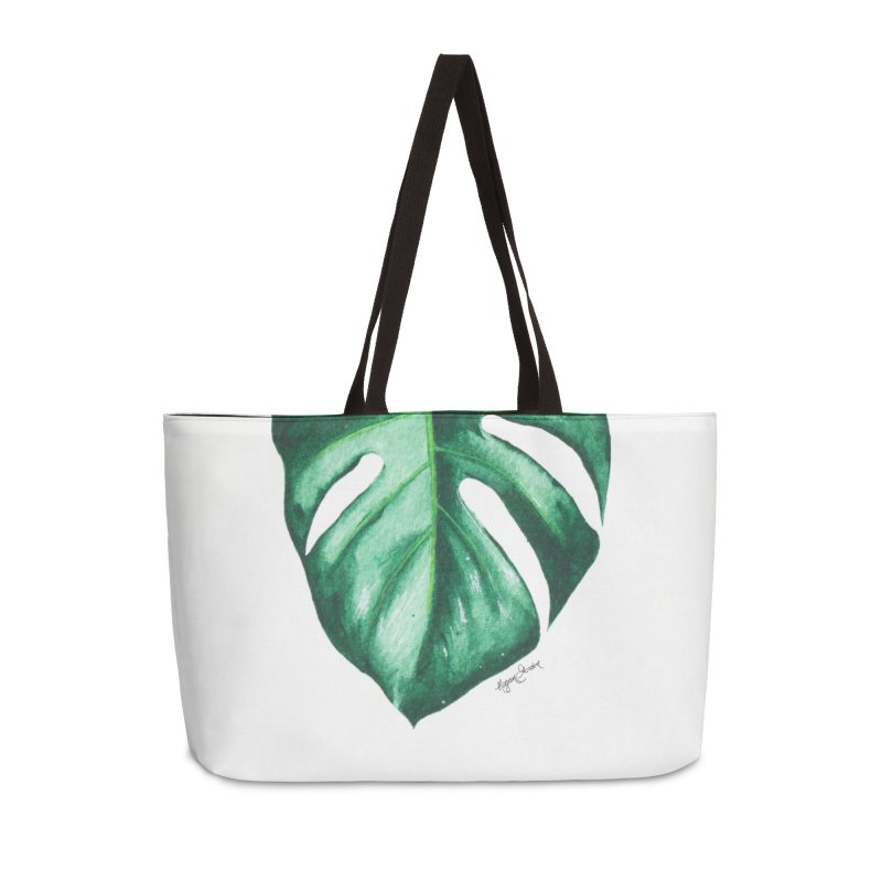 Monstera Leaf Love // She The Roar Collection Accessories Bag by megangordondotstudio