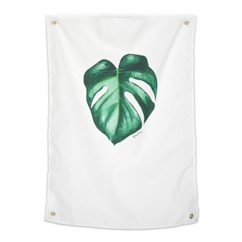 Monstera Leaf Love // She The Roar Collection Home Tapestry by megangordondotstudio