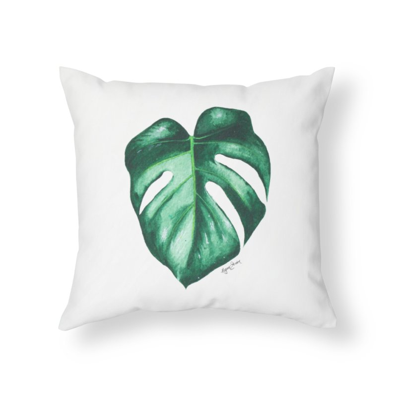 Monstera Leaf Love // She The Roar Collection Home Throw Pillow by megangordondotstudio