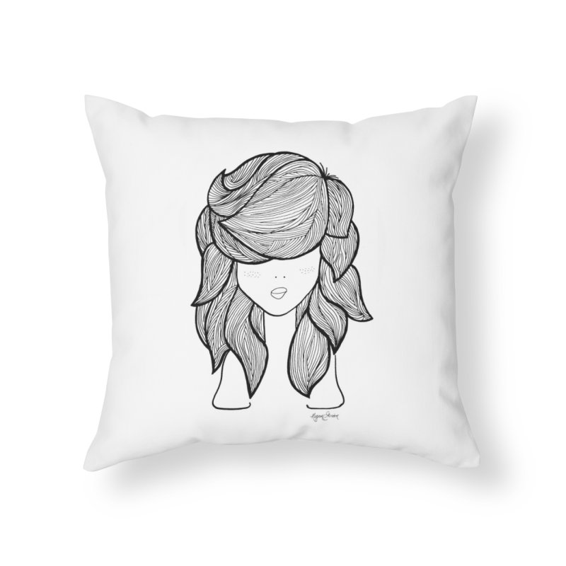 She Is Fierce // She The Roar Collection Home Throw Pillow by megangordondotstudio