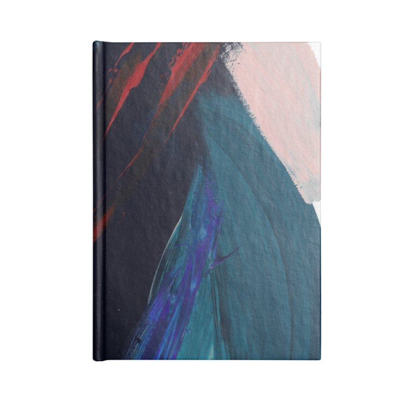 It's Where the Time Went Yesterday (Wildly Collection) Accessories Blank Journal Notebook by Megan Krzmarzick Abstract Artist