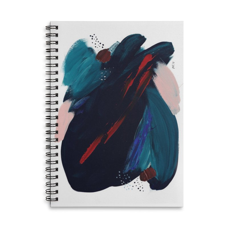 It's Where the Time Went Yesterday (Wildly Collection) Accessories Lined Spiral Notebook by Megan Krzmarzick Abstract Artist