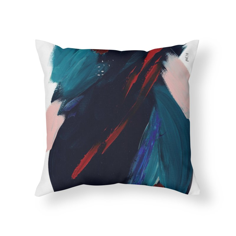 It's Where the Time Went Yesterday (Wildly Collection) Home Throw Pillow by Megan Krzmarzick Abstract Artist