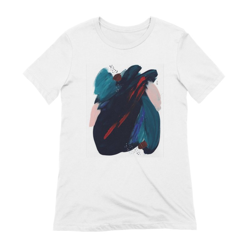 It's Where the Time Went Yesterday (Wildly Collection) Women's Extra Soft T-Shirt by Megan Krzmarzick Abstract Artist