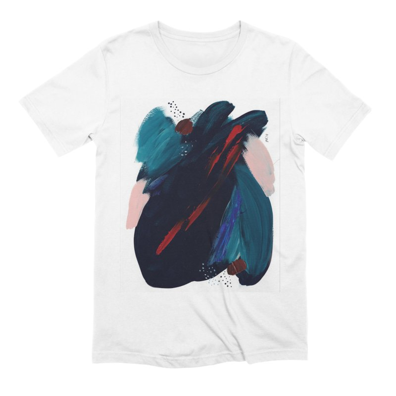 It's Where the Time Went Yesterday (Wildly Collection) Men's Extra Soft T-Shirt by Megan Krzmarzick Abstract Artist