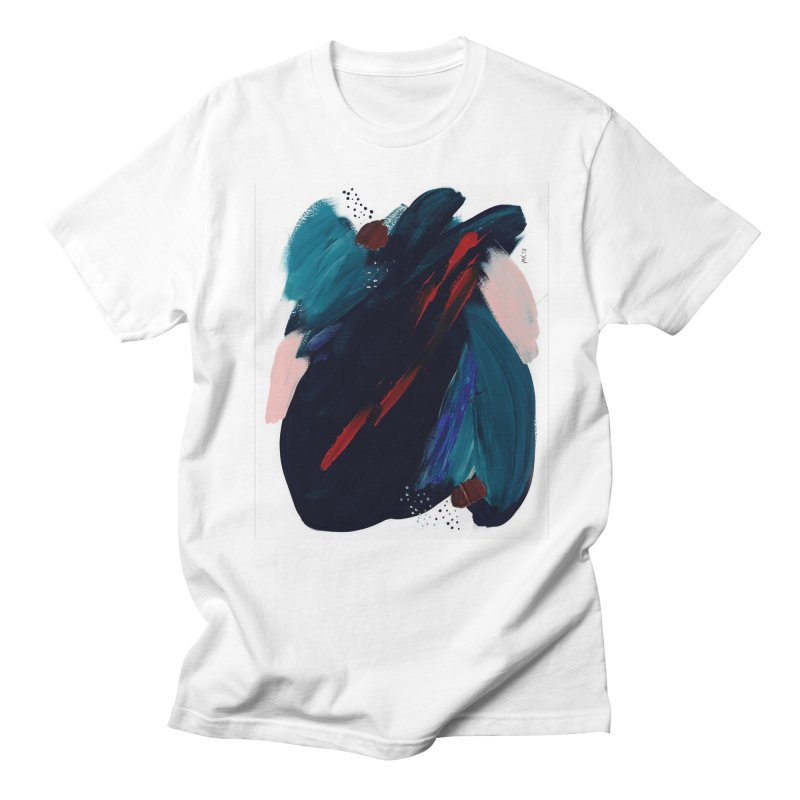 It's Where the Time Went Yesterday (Wildly Collection) Men's Regular T-Shirt by Megan Krzmarzick Abstract Artist