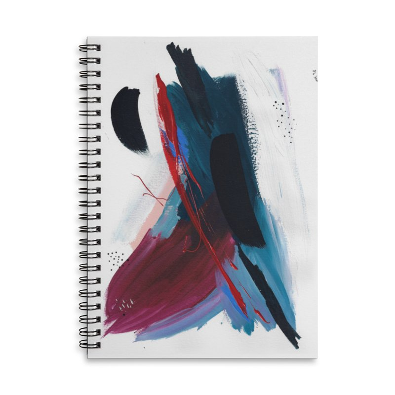 Reflections in the Swimming Pool During a Thunderstorm Accessories Lined Spiral Notebook by Megan Krzmarzick Abstract Artist