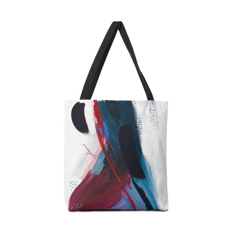 Reflections in the Swimming Pool During a Thunderstorm Accessories Tote Bag Bag by Megan Krzmarzick Abstract Artist