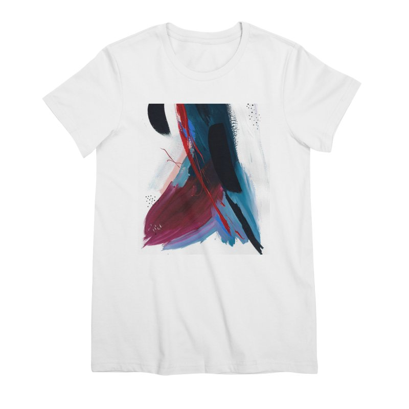 Reflections in the Swimming Pool During a Thunderstorm Women's Premium T-Shirt by Megan Krzmarzick Abstract Artist