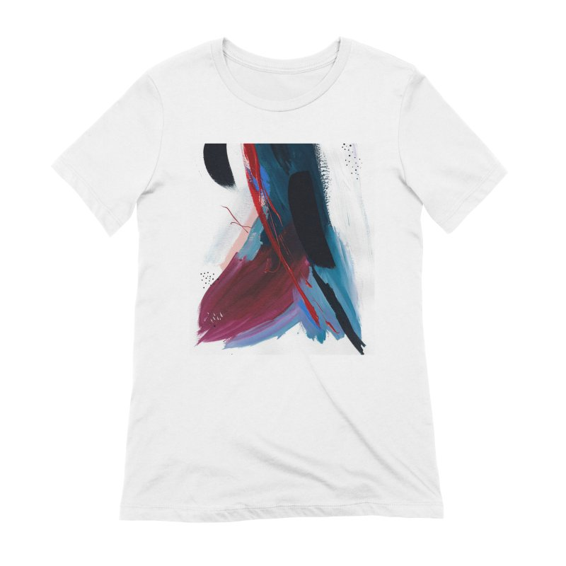 Reflections in the Swimming Pool During a Thunderstorm Women's Extra Soft T-Shirt by Megan Krzmarzick Abstract Artist