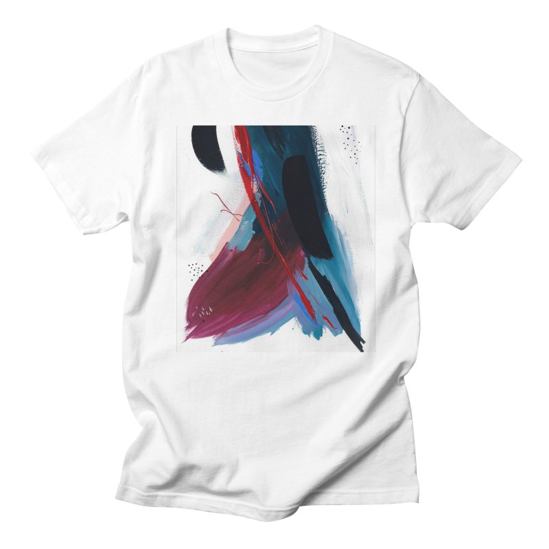 Reflections in the Swimming Pool During a Thunderstorm Men's T-Shirt by Megan Krzmarzick Abstract Artist