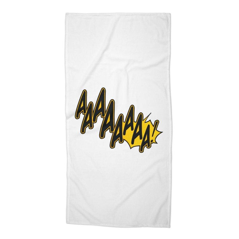 AAAAAAAA! Accessories Beach Towel by megatrip's Artist Shop