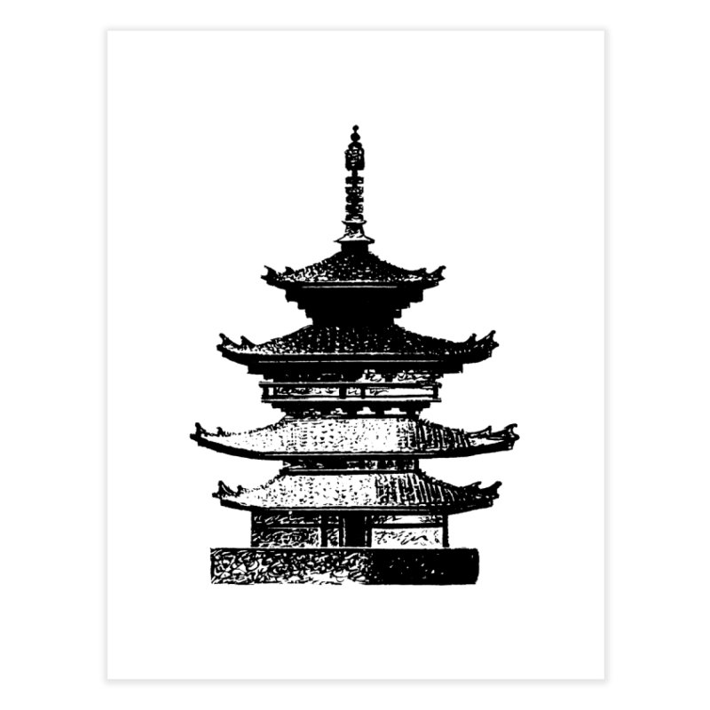 Pagoda Home Fine Art Print by megatrip's Artist Shop