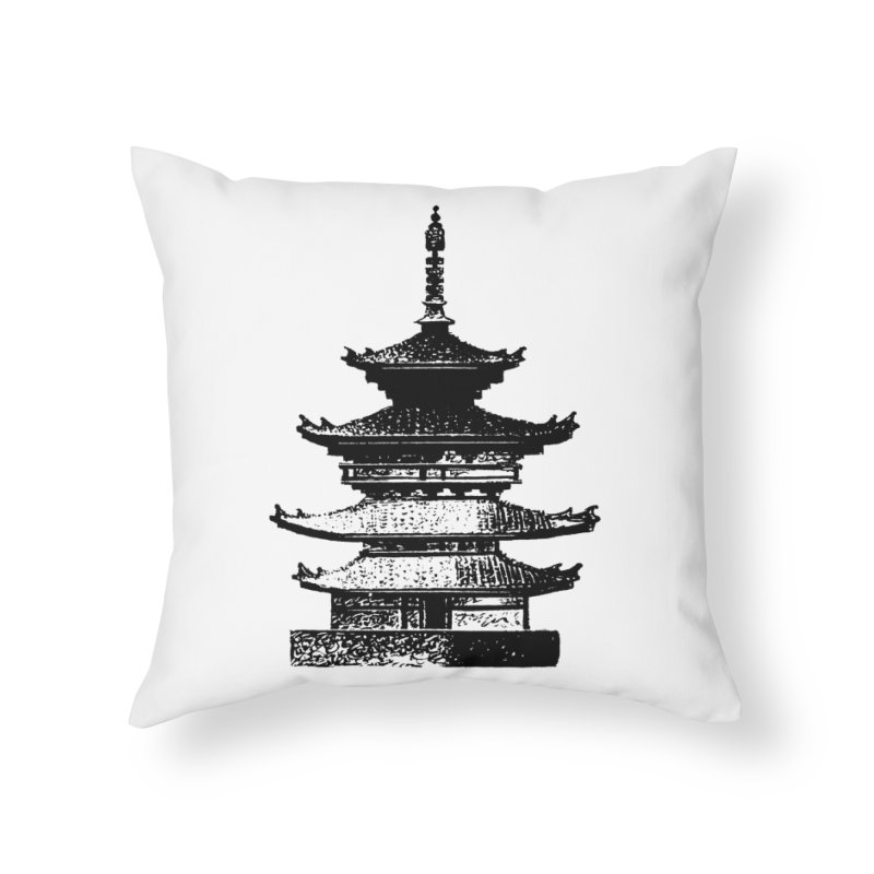 Pagoda Home Throw Pillow by megatrip's Artist Shop