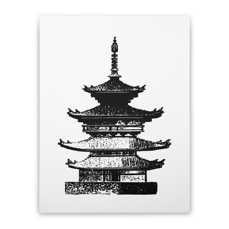 Pagoda Home Stretched Canvas by megatrip's Artist Shop