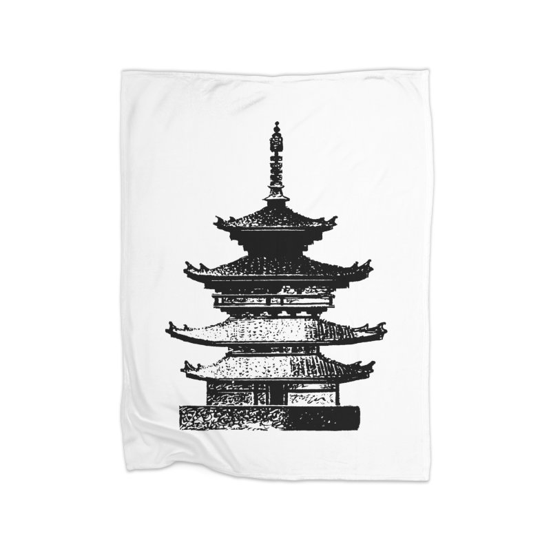 Pagoda Home Blanket by megatrip's Artist Shop