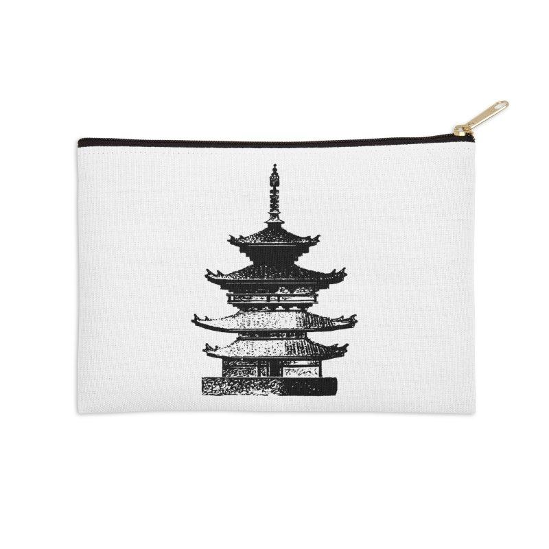 Pagoda Accessories Zip Pouch by megatrip's Artist Shop