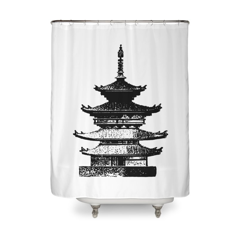 Pagoda Home Shower Curtain by megatrip's Artist Shop
