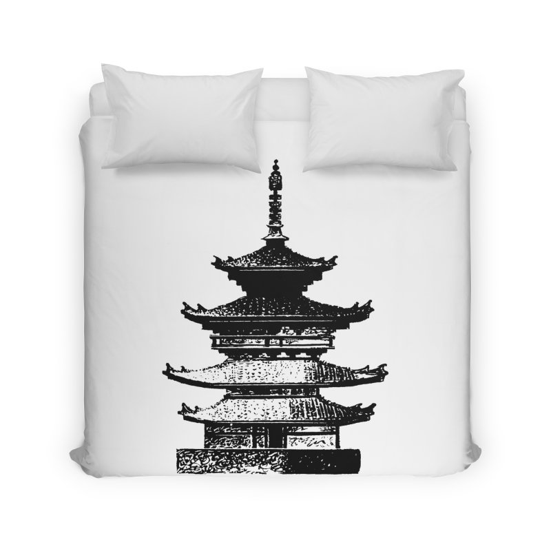 Pagoda Home Duvet by megatrip's Artist Shop
