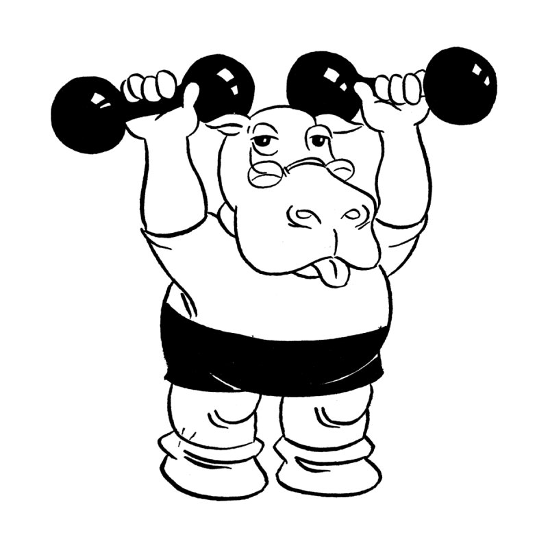 Hippo Workout   by megatrip's Artist Shop