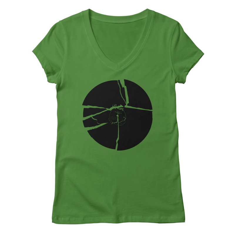 Broken Record Women's V-Neck by megatrip's Artist Shop