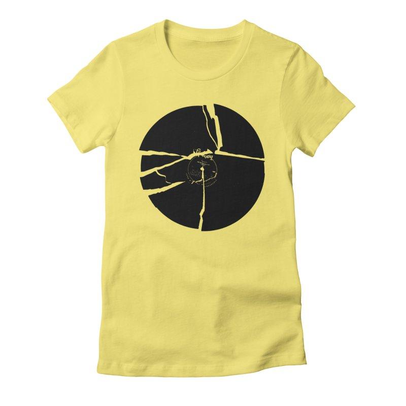 Broken Record Women's Fitted T-Shirt by megatrip's Artist Shop