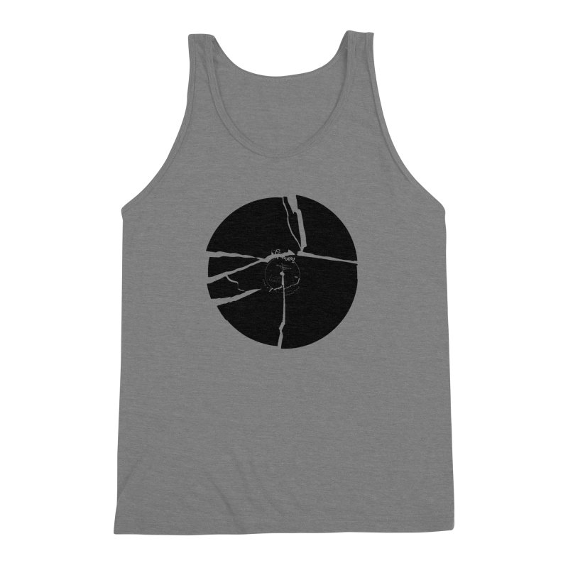 Broken Record Men's Triblend Tank by megatrip's Artist Shop