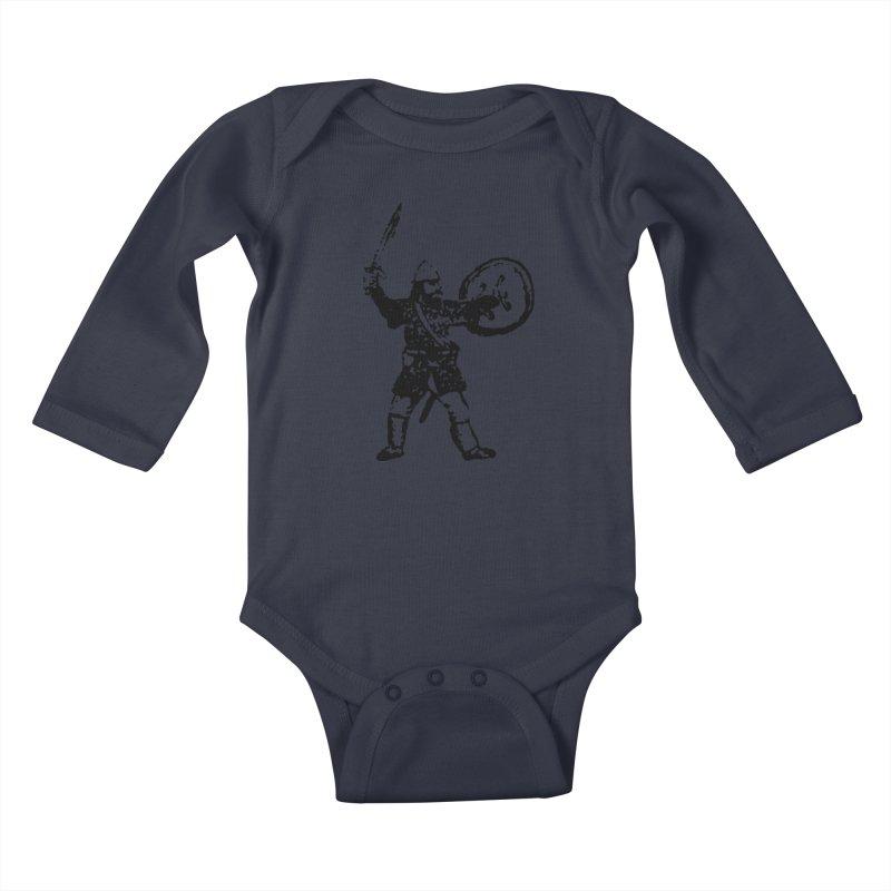 RPG Dwarf Attack Kids Baby Longsleeve Bodysuit by megatrip's Artist Shop