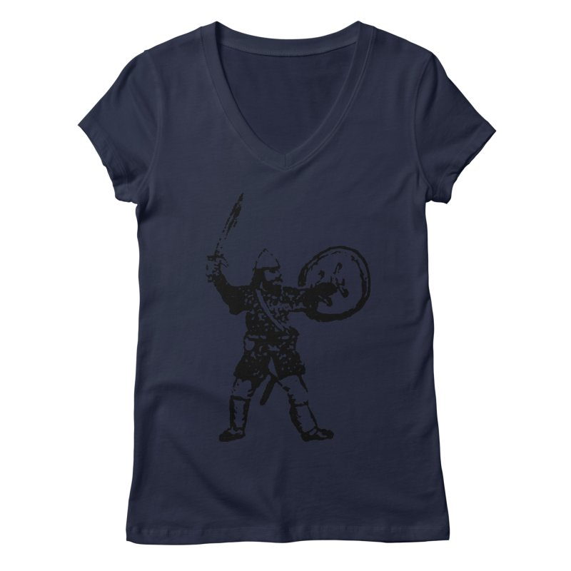 RPG Dwarf Attack Women's V-Neck by megatrip's Artist Shop