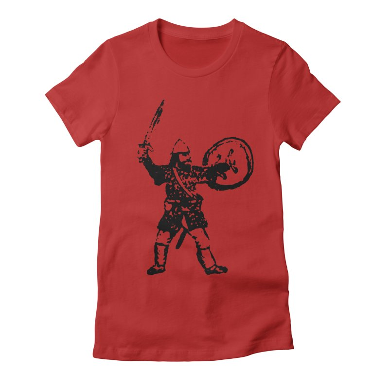 RPG Dwarf Attack Women's Fitted T-Shirt by megatrip's Artist Shop