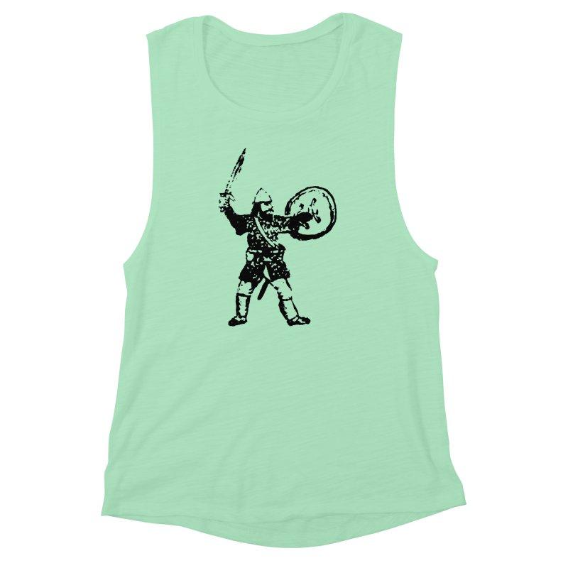 RPG Dwarf Attack Women's Muscle Tank by megatrip's Artist Shop